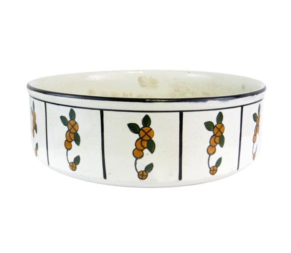 Flower Design Vintage Bowl