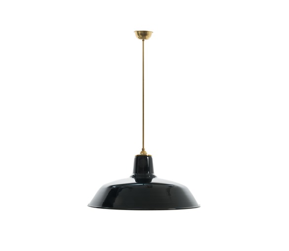 Fixed Rod Old School Lamp - Black