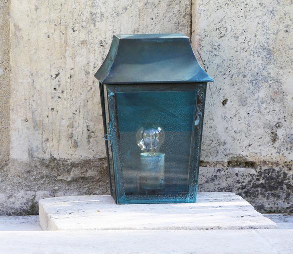 Amboise Lantern Verdigris