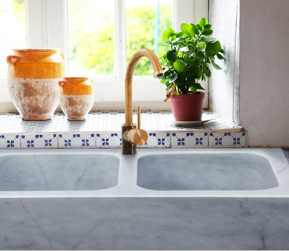 Marble Double Bowl Kitchen Sink