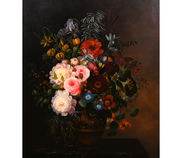 Painting of Flowers by Hammel