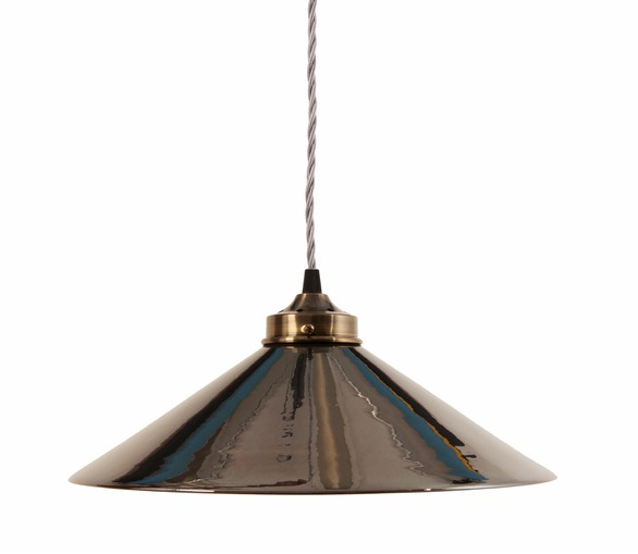 Ceramic Pendant Light - Silver