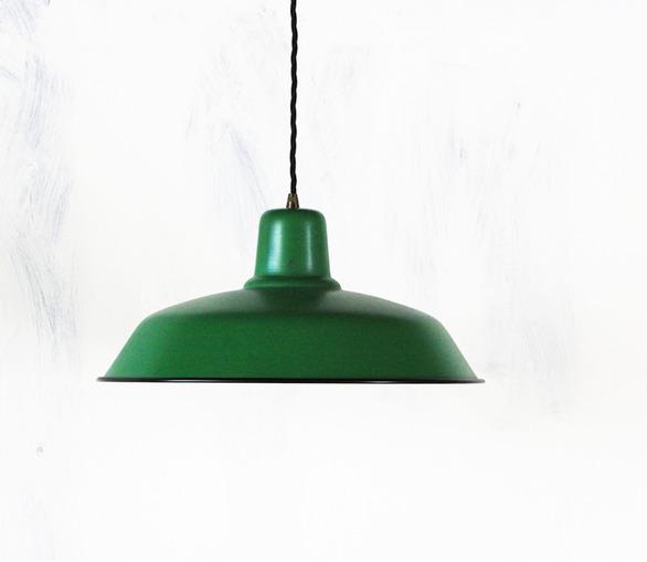 Old School Lamp - matt green