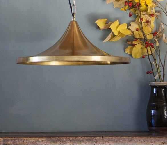Large Raw Brass Light