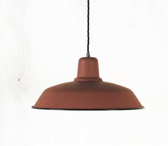 Old School Lamp - matt terracotta