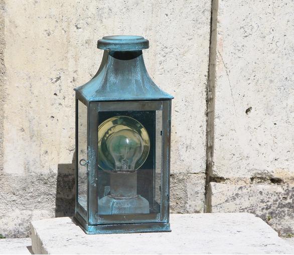 Phare Wall Lantern Verdigris